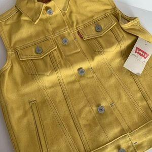 Levi's Jackets & Coats - Levi's Mustard Yellow Gold Jean Vest M, L, XL
